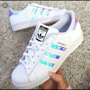 Adidas superstar iridescent sneakers